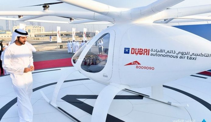 Flying taxi Dubai